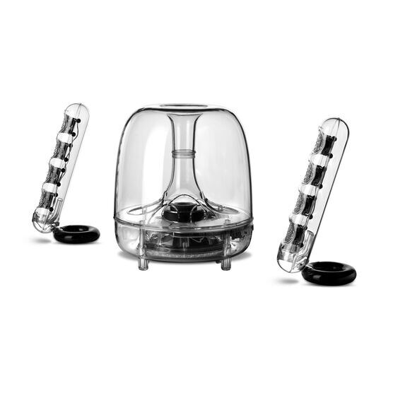 SoundSticks III - Clear - Three-piece, 2.1-channel multimedia sound system - Detailshot 1