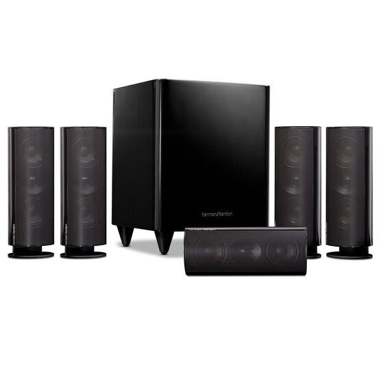 HKTS 30 - Black - 5.1-channel, 120 watt home theater system - Hero