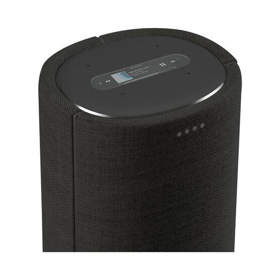 Harman Kardon Citation Tower - Black - Smart Premium Floorstanding Speaker that delivers an impactful performance - Detailshot 1