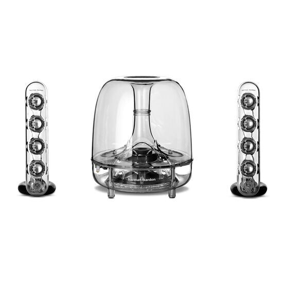 SoundSticks III - Clear - Three-piece, 2.1-channel multimedia sound system - Front