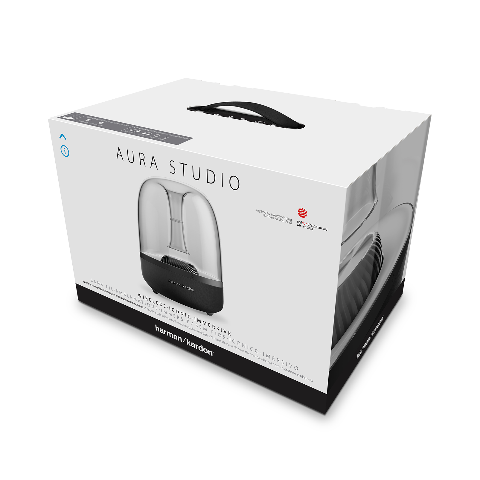 aura studio wireless bluetooth home speaker system rh harmankardon co uk HK Aura Dimensions HK Aura Size