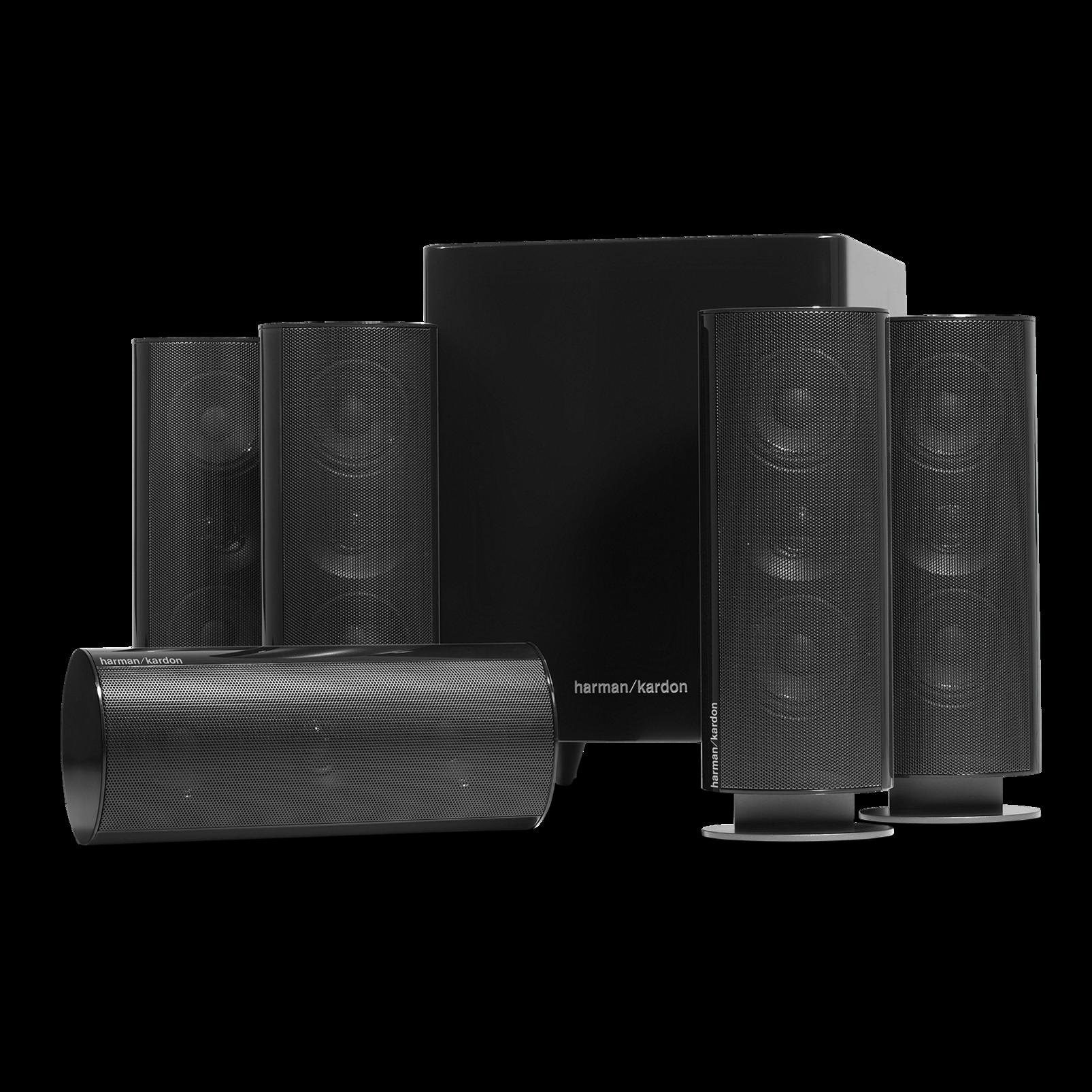 HKTS 30 - Black - 5.1-channel, 120 watt home theater system - Front
