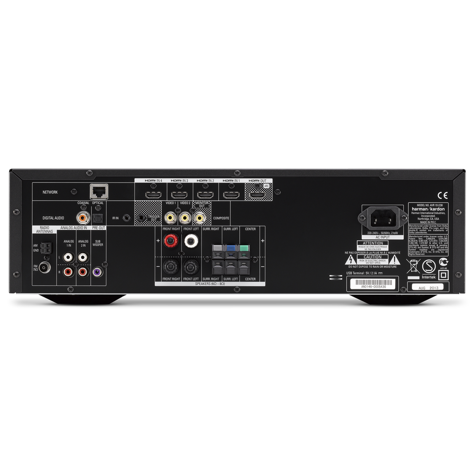 Avr 151 375 Watt 5 1 Channel Networked Audio Video